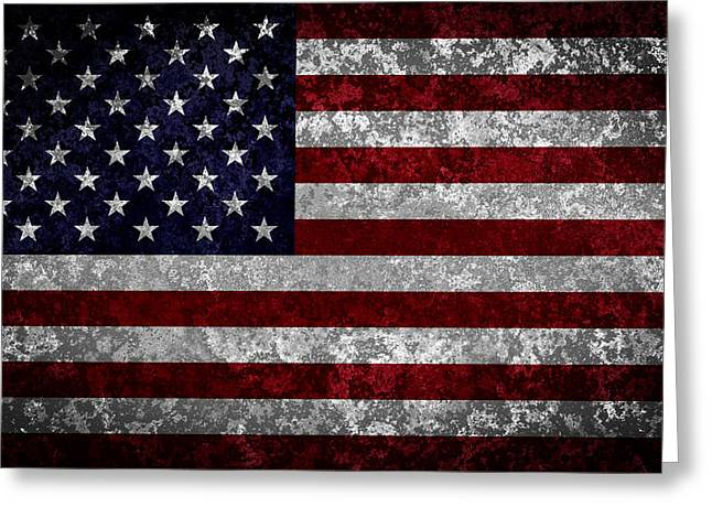 Flag Of Usa Digital Art Greeting Cards - Flag of the United States Greeting Card by Martin Capek