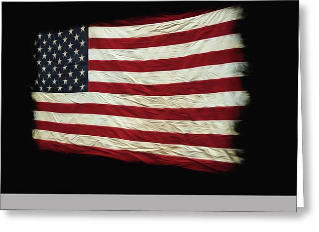 Star Greeting Cards - Flag of the USA Greeting Card by Steven  Michael