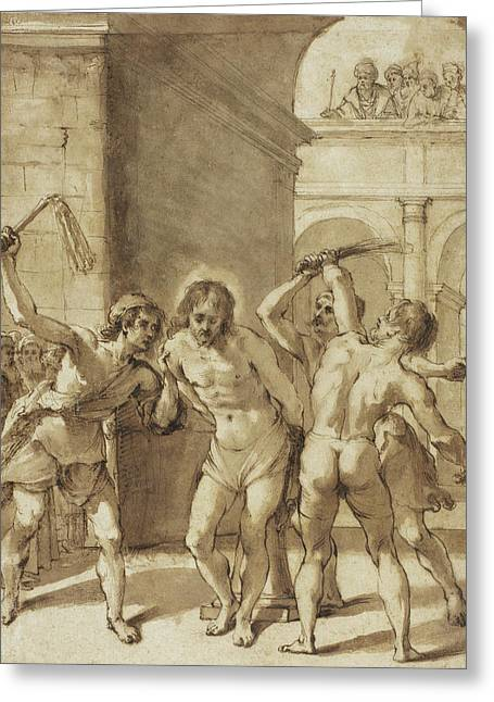 Flagellation Of Christ Greeting Card by Guercino