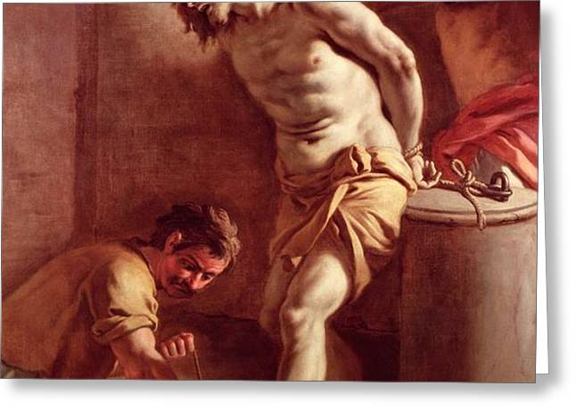 Flagellation of Christ Greeting Card by Pietro Bardellini
