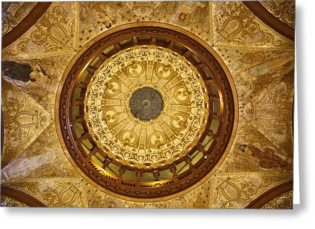 Flagler Greeting Cards - Flagler College Ceiling  Greeting Card by Patrick  Flynn