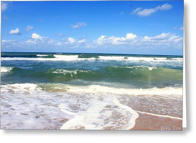 Ocean Photography Greeting Cards - Flagler Greeting Card by Kyra Fry