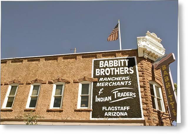 Babbitt Greeting Cards - Flagstaff Babbitts Greeting Card by Dietrich Sauer
