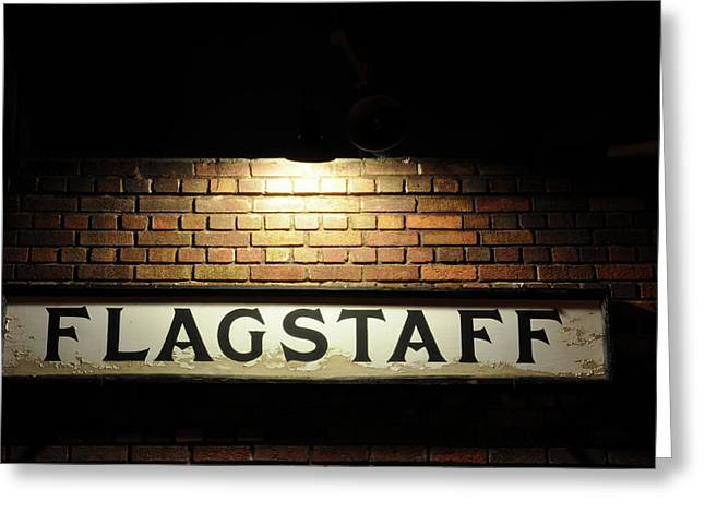 Flagstaff Greeting Cards - Flagstaff Train Station Greeting Card by Kelly Wade
