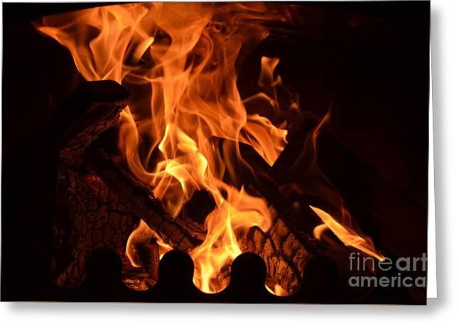 Flame 1 Greeting Card by Eva Maria Nova