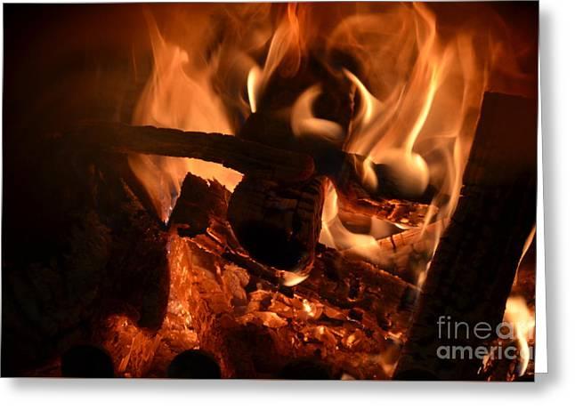 Flame 2 Greeting Card by Eva Maria Nova