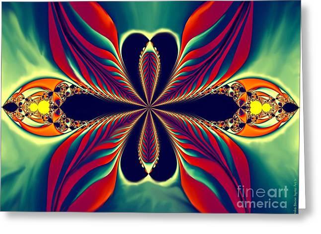 Digital Greeting Cards Greeting Cards - Flame Blossom Greeting Card by Sandra Bauser Digital Art