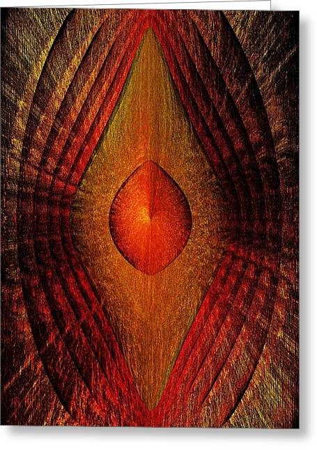 Layer Greeting Cards - Flame Darks Greeting Card by Joshua Moore