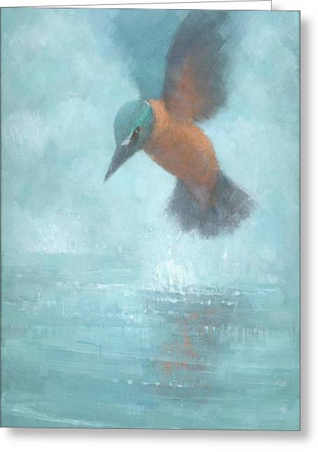 Flame In The Mist Greeting Card by Steve Mitchell