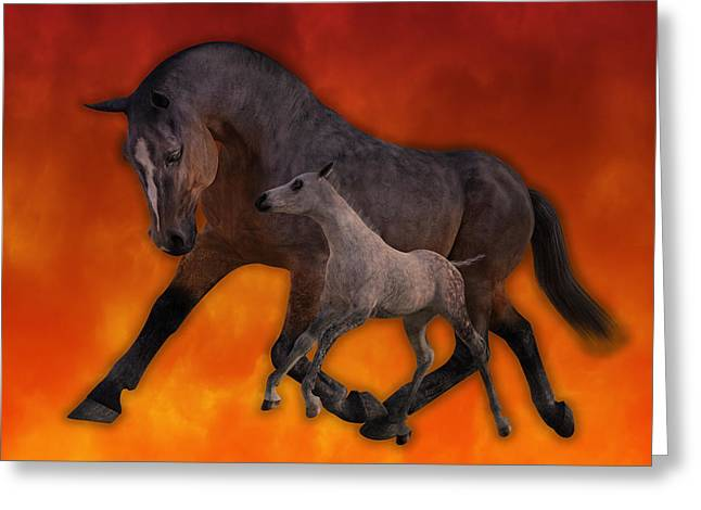 Flame N Firehouse  Greeting Card by Betsy C Knapp