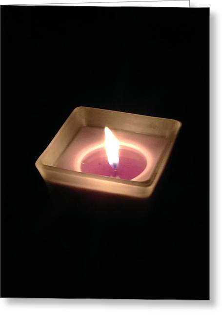 Candle Lit Greeting Cards - Flame of Life Greeting Card by Gh FiLben