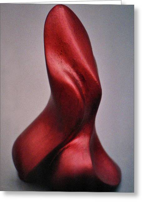 Abstract Forms Sculptures Greeting Cards - Flame On Greeting Card by Lonnie Tapia