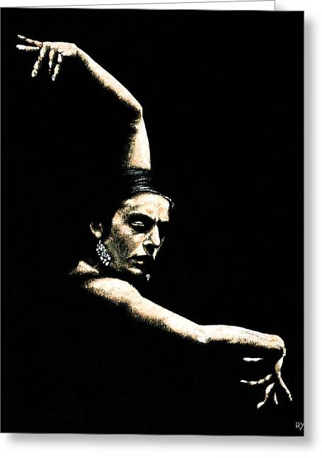 Emotion Art Greeting Cards - Flamenco Arms Greeting Card by Richard Young