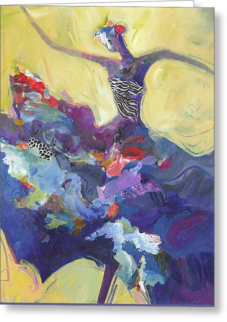 Dancer Paintings Greeting Cards - Flamenco Dancer No 5 Greeting Card by Shelli Walters