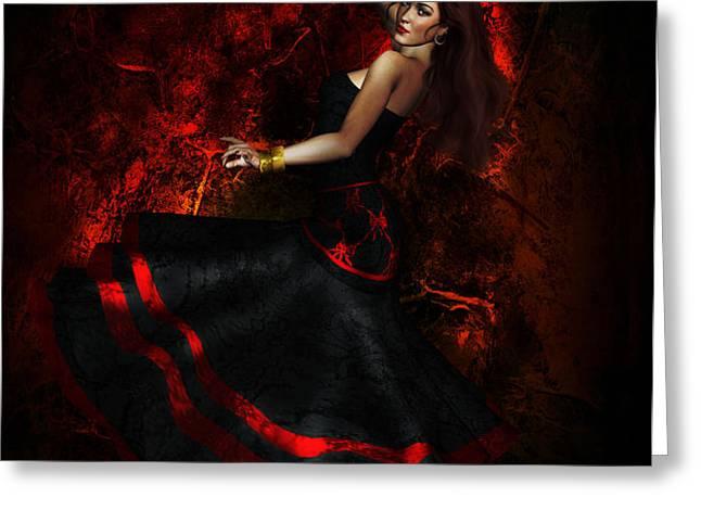 Flamenco Greeting Card by Shanina Conway
