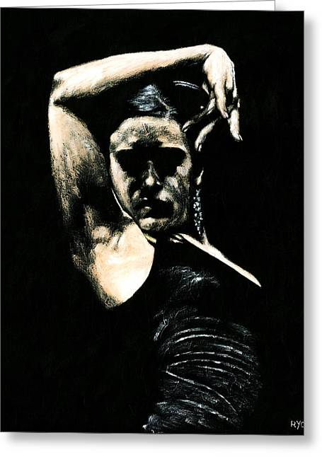 Emotions Greeting Cards - Flamenco Soul Greeting Card by Richard Young