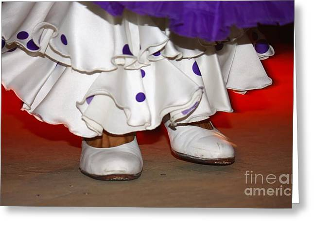 Foot Steps Greeting Cards - Flamenco Steps Greeting Card by Sophie Vigneault