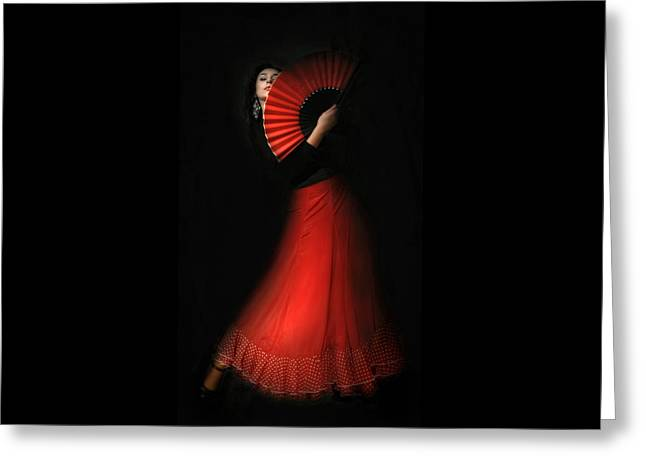 Flamenco Greeting Card by Viktor Korostynski