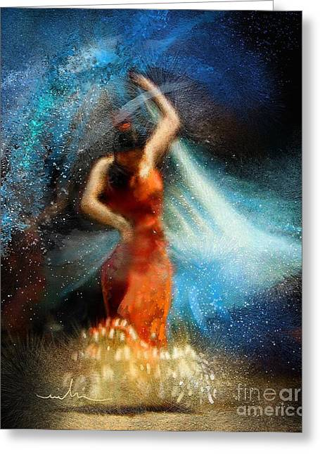 Flamencoscape 05 Greeting Card by Miki De Goodaboom