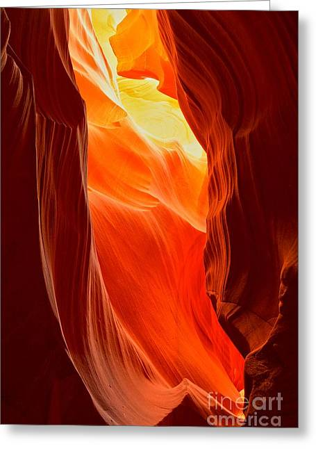Flames At Upper Antelope Greeting Card by Adam Jewell