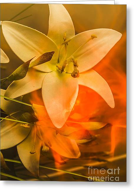Flames Of Intimacy Greeting Card by Jorgo Photography - Wall Art Gallery
