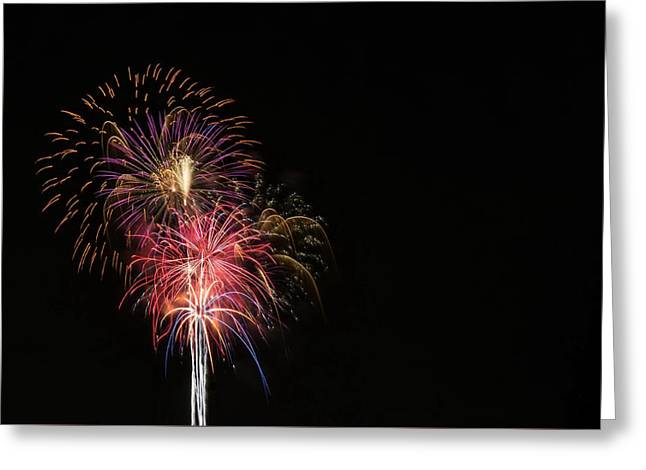 4th July Greeting Cards - Flaming Fountain Greeting Card by Caleb McElhaney