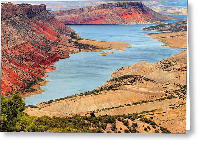 Red Dirt Greeting Cards - Flaming Gorge Greeting Card by Kristin Elmquist