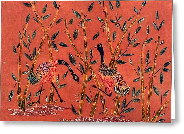 Amazing Tapestries - Textiles Greeting Cards - Dialogue Greeting Card by Budi Mulyawan