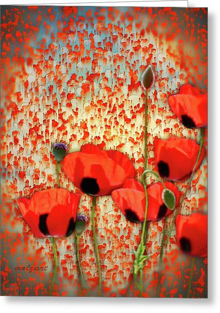 Kelly Greeting Cards - Flanders fields Greeting Card by Valerie Anne Kelly