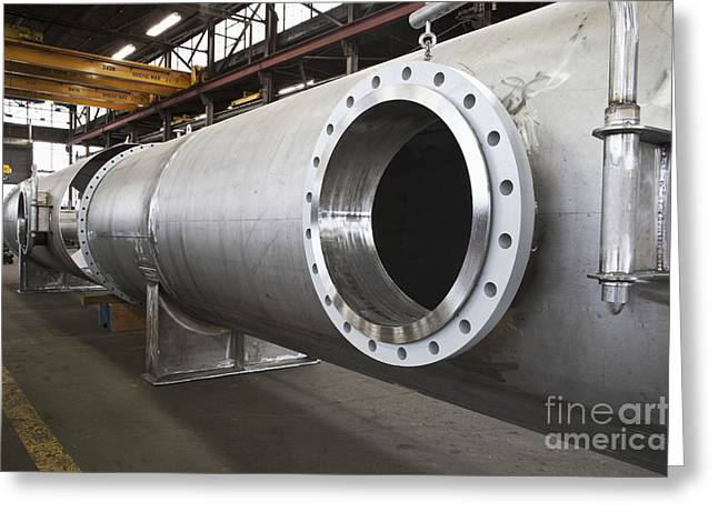 Fabrication Greeting Cards - Flanged Opening in Pipe Greeting Card by Jetta Productions, Inc