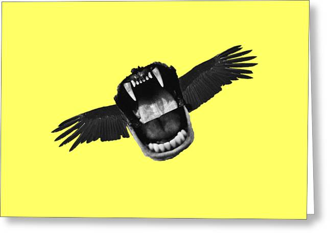 Flappy Mouth Greeting Card by Nicholas Ely