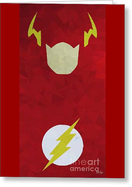 Art Book Greeting Cards - Flash Greeting Card by Helge