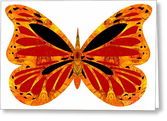 Circle Glass Greeting Cards - Flashes Of Brilliance And Abstract Butterflies by Omashte Greeting Card by Omaste Witkowski