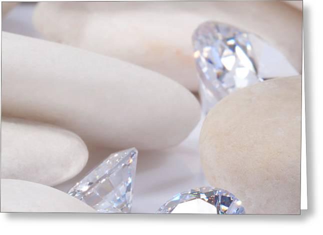 flashing diamond Greeting Card by ATIKETTA SANGASAENG
