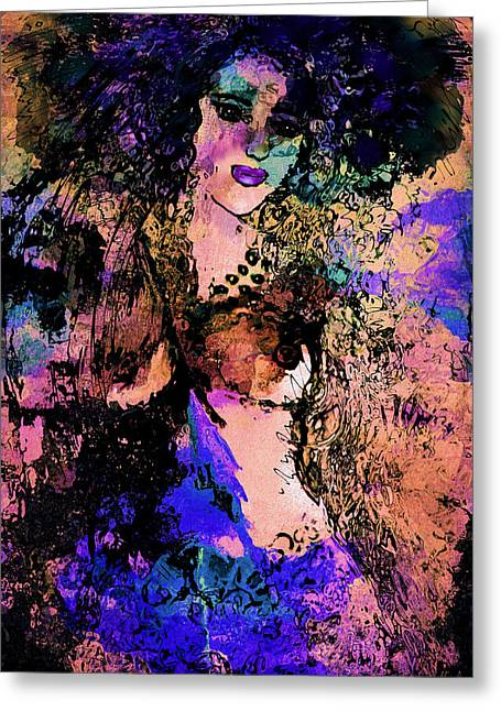 Flashy Dancer Greeting Card by Natalie Holland