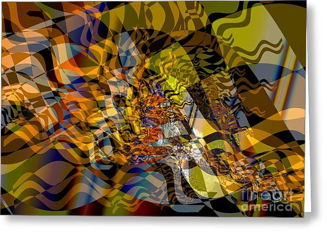 Modern Digital Art Digital Art Greeting Cards - Flat Fractal Greeting Card by Ron Bissett