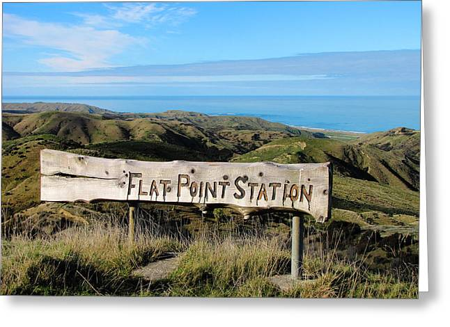 Horizen Greeting Cards - Flat Point Station Greeting Card by Karen Wood