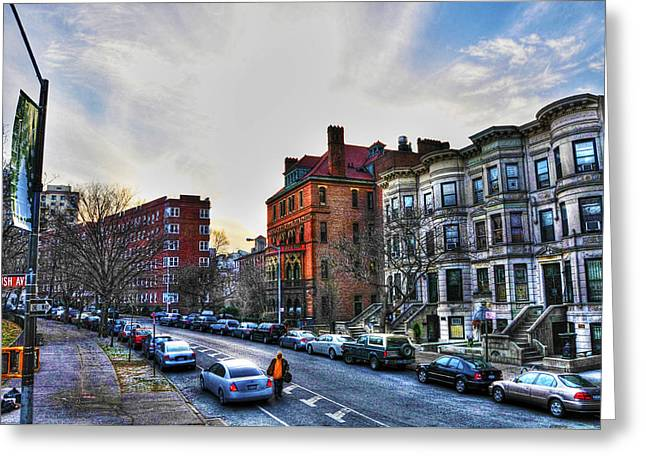 Stoop Greeting Cards - Flatbush Ave in Brooklyn Greeting Card by Randy Aveille