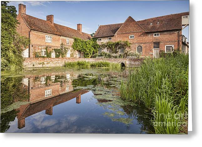 Vale Greeting Cards - Flatford Mill Greeting Card by Colin and Linda McKie