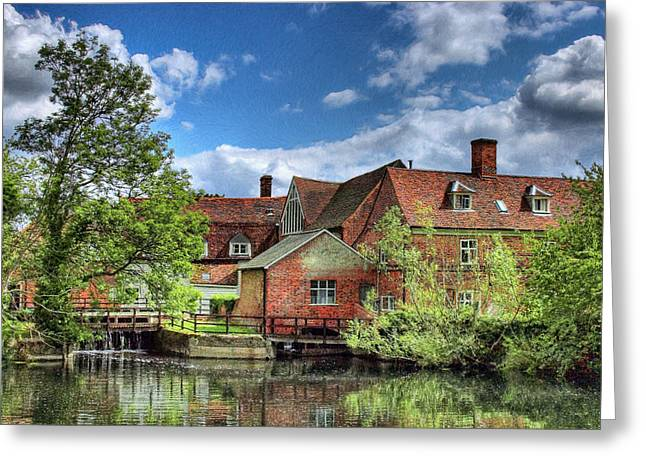 Flatford Mill Greeting Card by Colin Bailey