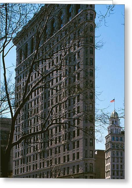 Flatiron Building Greeting Cards - Flatiron Building Manhattan New York Greeting Card by Panoramic Images