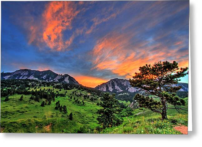 Fort Collins Photographs Greeting Cards - Flatiron Glow Greeting Card by Scott Mahon