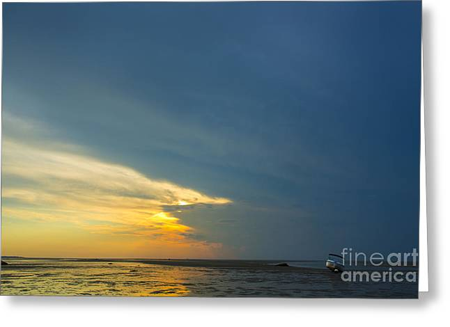 Storm Clouds Cape Cod Greeting Cards - Flats of Brewster, Cape Cod Greeting Card by Diane Diederich