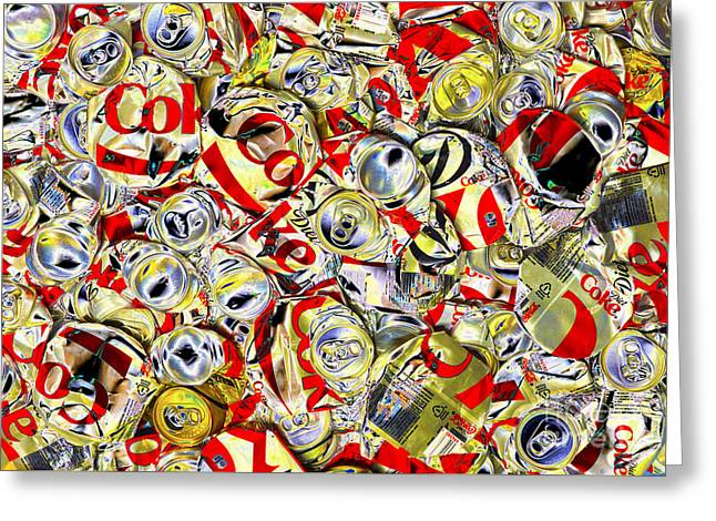 Flattened Coke Cans Greeting Card by Paul W Faust - Impressions of Light