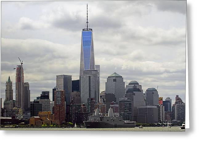 Nature Center Greeting Cards - Fleet Week 2015 New York Harbor Greeting Card by Geraldine Scull