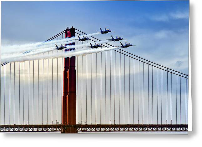 Fleet Week Greeting Cards - Fleet Week San Francisco 2012 Greeting Card by David Yu