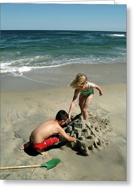 Sand Castles Greeting Cards - Fleeting Childhood Greeting Card by Phil Degginger