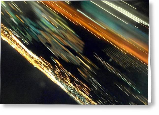 Jet Star Paintings Greeting Cards - Fleeting Greeting Card by Dietmar Scherf