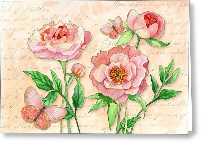Spring Mixed Media Greeting Cards - Fleeting Glory Greeting Card by Audrey Jeanne Roberts