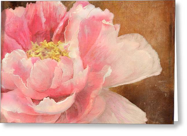 Bold Blossom Greeting Cards - Fleeting Glory - Peony 2 Greeting Card by Audrey Jeanne Roberts